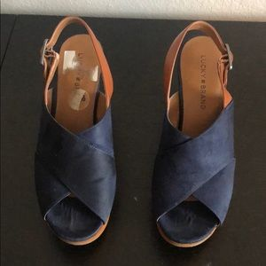 Lucky Brand navy wedges 8